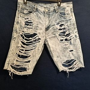 Other - Men's Distressed Jean Shorts